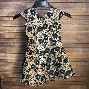 Little Angels NWOT party dress. Size 5. Navy&Gold